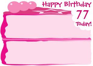 Happy 77th Birthday Card