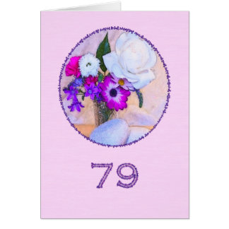 Happy 79th birthday with a flower painting greeting card