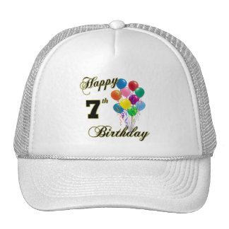 Happy 7th Birthday Baseball Caps and Hats