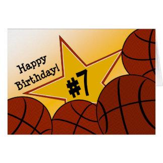 Happy 7th Birthday, Basketball Star! Card