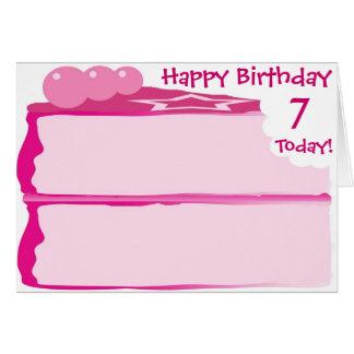 Happy 7th Birthday Card