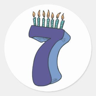 Happy 7th Birthday! Round Sticker
