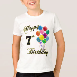 Happy 7th Birthday Shirts and Birthday Apparel