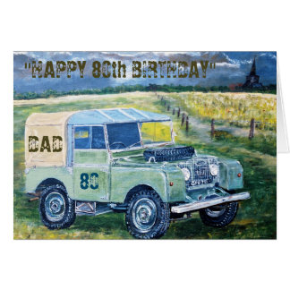 Happy 80th Birthday Card For Dad