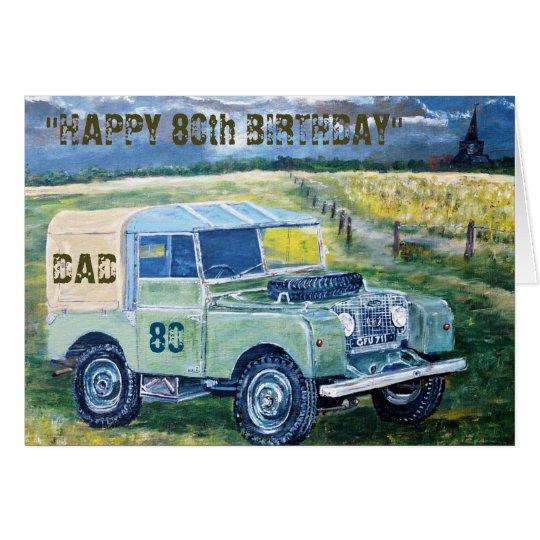 Happy 80th Birthday Card For Dad
