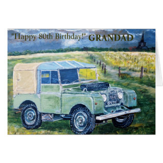 Happy 80th Birthday Card For GRANDAD