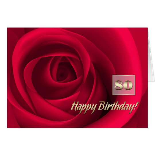 Happy 80th Birthday Customisable Greeting Cards