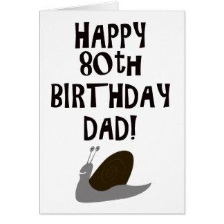 Happy 80th Birthday Dad Greeting Card