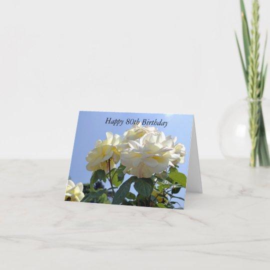Happy 80th Birthday Flower Card Zazzle