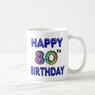Happy 80th Birthday Gifts and Birthday Apparel Coffee Mug