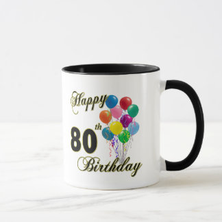Happy 80th Birthday Gifts and Birthday Apparel Mug