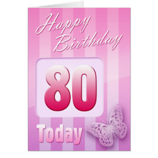 Happy 80th Birthday Grand Mother Great-Aunt Mum Greeting Card