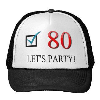 Happy 80th Birthday Trucker Hats