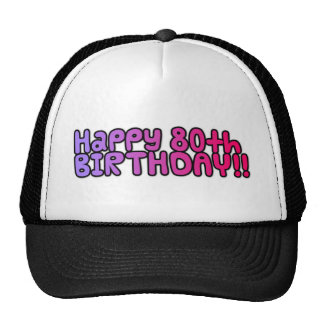 Happy 80th Birthday Mesh Hat