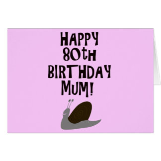 Happy 80th Birthday Mum! Card