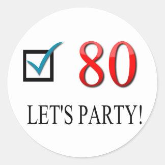 Happy 80th Birthday Sticker