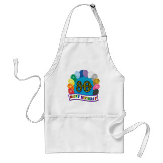 Happy 80th Birthday with Balloons Aprons