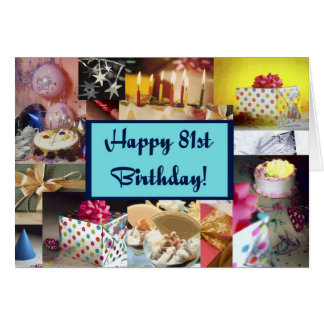 Happy 81st Birthday Greeting Card