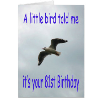 Happy 81st Birthday Flying Seagull bird Greeting Card