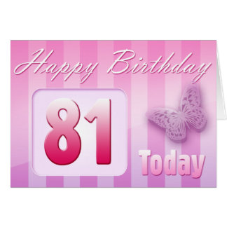 Happy 81st Birthday Grand Mother Great-Aunt Mom Cards
