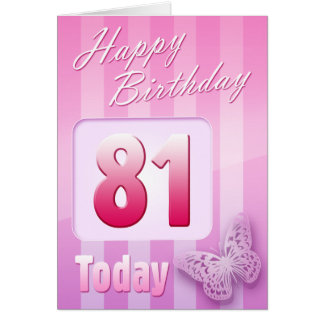 Happy 81st Birthday Grand Mother Great-Aunt Mum Card