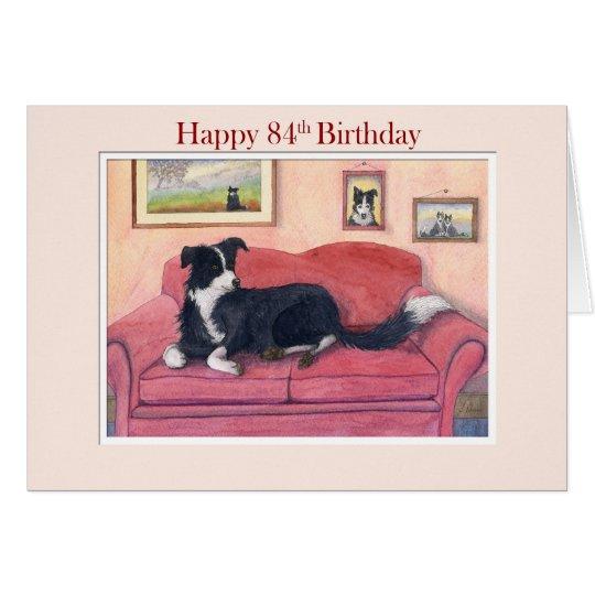 Happy 84th Birthday, border collie dog on the