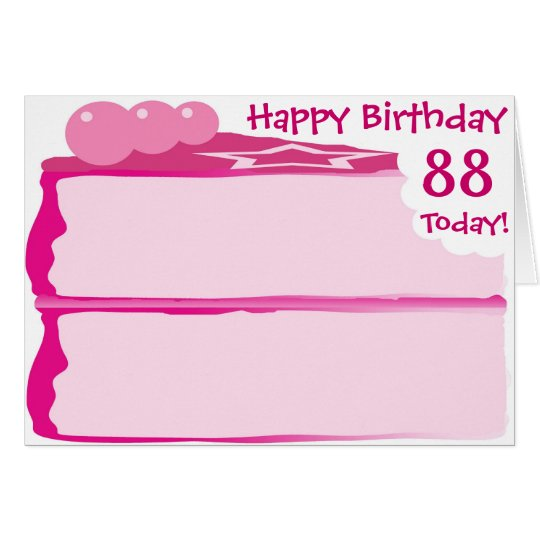 Happy 88th Birthday Card