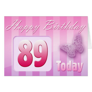 Happy 89th Birthday Grand Mother Great-Aunt Mom Greeting Card