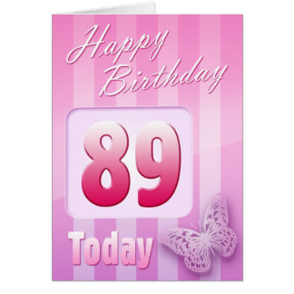 Happy 89th Birthday Grand Mother Great-Aunt Mum Card