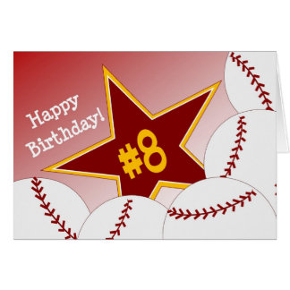 Happy 8th Birthday, Softball Star! Card