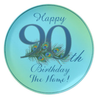 Happy 90th Birthday - 100% personalized plates