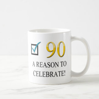 Happy 90th Birthday Basic White Mug