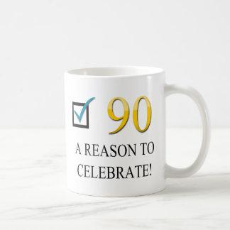 Happy 90th Birthday Basic White Mug