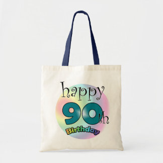 Happy 90th Birthday Budget Tote Bag