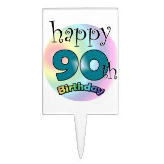 Happy 90th Birthday Cake Picks