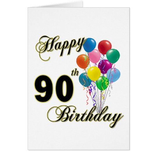 Happy 90th Birthday Gifts and Birthday Apparel Card