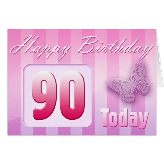 Happy 90th Birthday Grand Mother Great-Aunt Mom Card