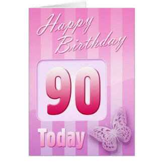 Happy 90th Birthday Grand Mother Great-Aunt Mum Greeting Card