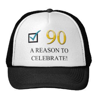 Happy 90th Birthday Trucker Hats