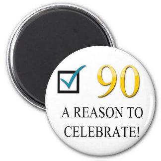 Happy 90th Birthday Fridge Magnets