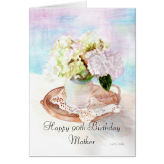 Happy 90th Birthday Mother Greeting Card
