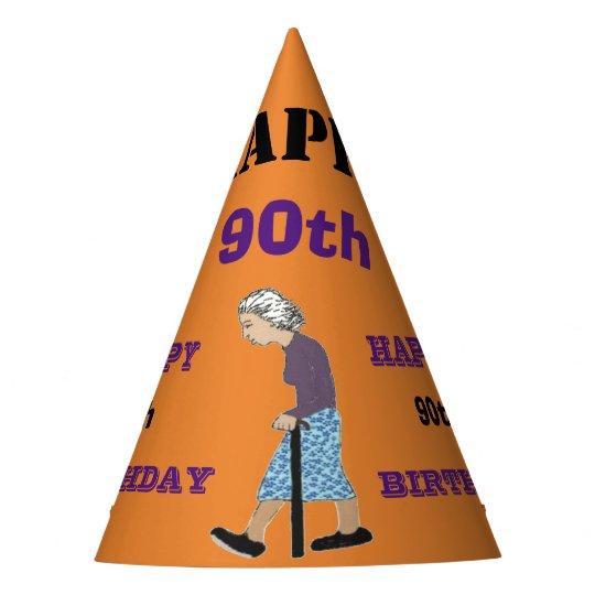 HAPPY 90TH BIRTHDAY PARTY HAT