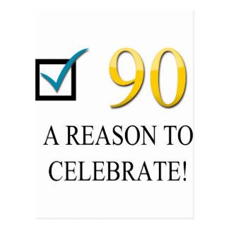 Happy 90th Birthday Postcard