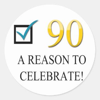 Happy 90th Birthday Sticker