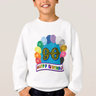 Happy 90th Birthday T-Shirt with Balloon Arch
