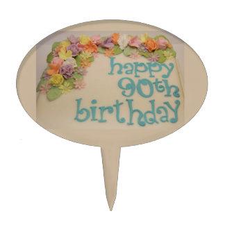 Happy 90th Colorful Birthday Cake Picks