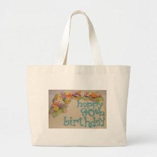 Happy 90th Colorful Birthday Jumbo Tote Bag