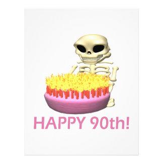 Happy 90th flyer design