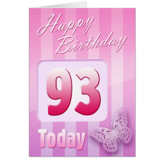 Happy 93rd Birthday Grand Mother Great-Aunt Mum Greeting Card