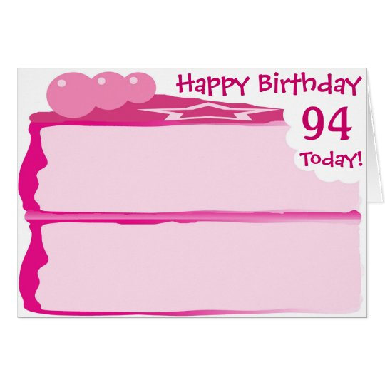 Happy 94th Birthday Card